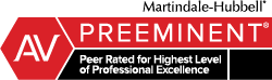 Martindale Peer Review rating badge.